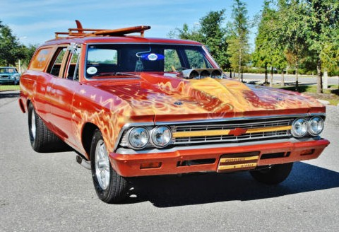 1966 Chevrolet Chevelle 1 of and kind Super Charged and runs sweet. for sale